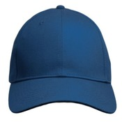 Curved Bill Adjustable Velcro Back Hat. 6-Panel Structured Twill.